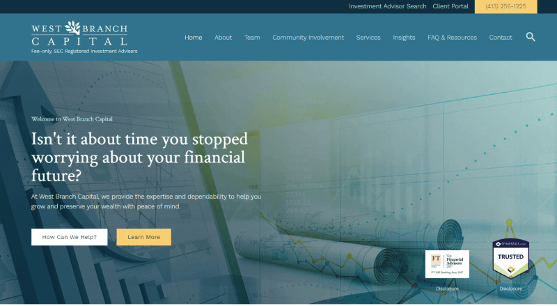 second firm website example
