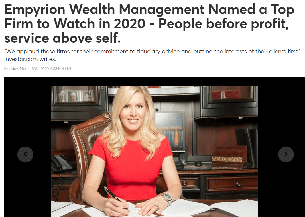 Empyrion Wealth press release example