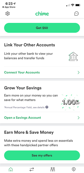 Chime account linking and other features