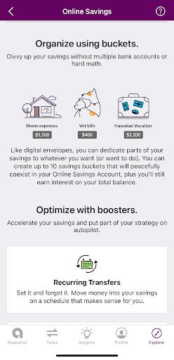 Ally savings account optimize buckets