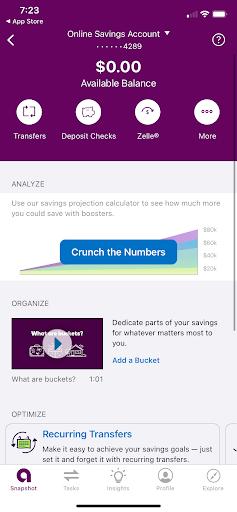 Ally savings account mobile dashboard